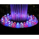 "Floating Spray Fountain with 48 LED Light and 550 GPH Pump (Black) (6""H x 12""W x 12""D)"