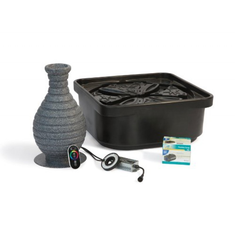 Atlantic Water Gardens Fountain Kit Color Changing Vase With Pump And Basin
