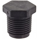 "Banjo PLUG050 Polypropylene Pipe Fitting, Plug, Schedule 80, 1/2"" NPT Male"
