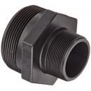 "Banjo RN300-200 Polypropylene Pipe Fitting, Reducing Nipple, Schedule 80, 3"" NPT Male x 2"" Length"