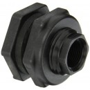 "Banjo TF075 Polypropylene Bulkhead Tank Fitting, 3/4"" NPT Female"