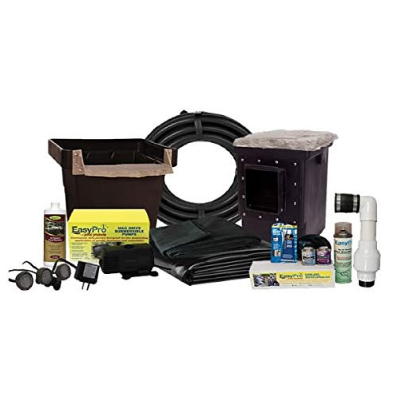 Easypro Pond Products Complete Pond Kit For 6 39 X 11 39 Pond Small