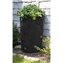 Good Ideas IMP-C90-BLK Impressions Tree Bark Rain Barrel, 90-Gallon, Black