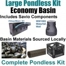 "15 x 30 Large Pondless Waterfall Kit With Anjon 6,100 GPH Hybrid Mag Drive Pump, Savio 31"" Waterfall & Savio Waterfall Well PLS0"